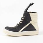 Rick Owens // Geobasket Laser Cut Sneakers // Black (US: 6)