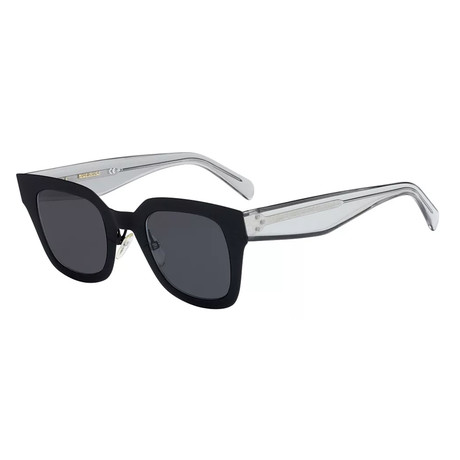 a73d7fad4128 CÉLINE Sunglasses // 41451 // Black Frame + Gray Blue Lenses