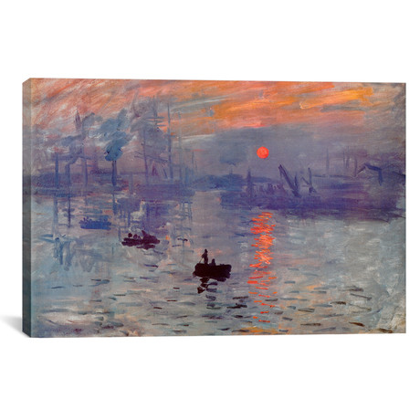 "Sunrise Impression // Claude Monet (18""W x 12""H x 0.75""D)"