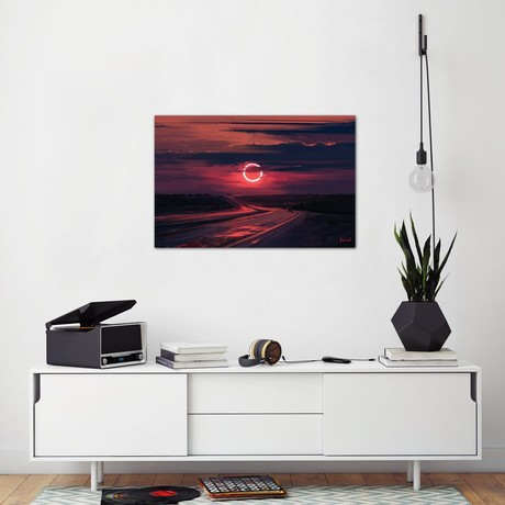 """Solar Eclipse // Alena Aenami (18""""H x 26""""W x 0.75""""D)"""