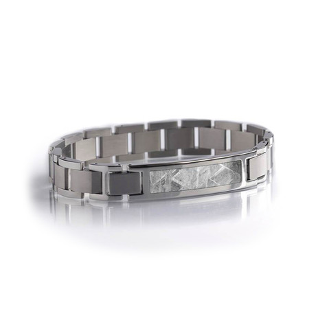 Modular Stainless Steel Bracelet // Meteorite