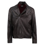 Brunello Cucinelli // Leather Zip-Up Jacket // Brown (Euro: 52)