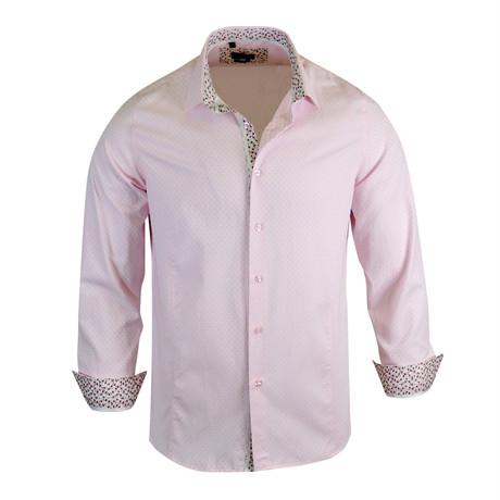 Ronny Modern Fit Long-Sleeve Dress Shirt // Pink (L)