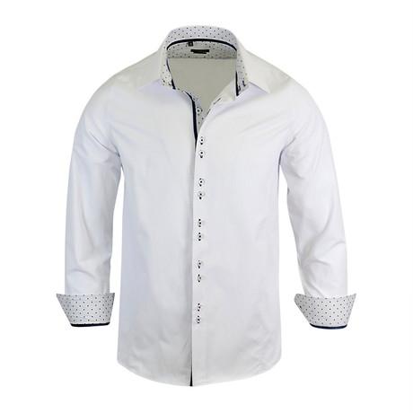 Tristan Modern Fit Long-Sleeve Dress Shirt // White (M)