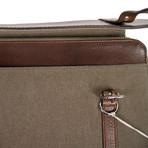 Brunello Cucinelli // Bryant Leather + Canvas Business Portfolio Bag // Brown