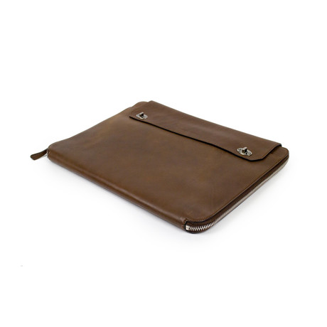 Brunello Cucinelli // Irvin Leather Business Portfolio Bag // Brown