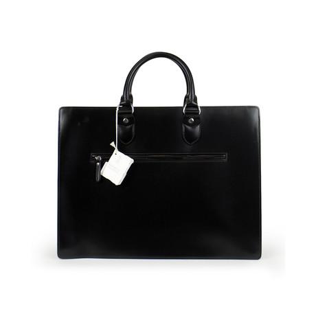 Brunello Cucinelli // Kerry Leather Briefcase Bag // Black