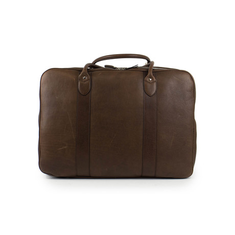Brunello Cucinelli // Elbert Leather Travel Bag // Brown