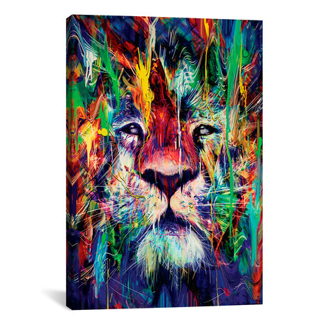 "Lion I // Nicebleed (18""W x 26""H x 0.75""D)"