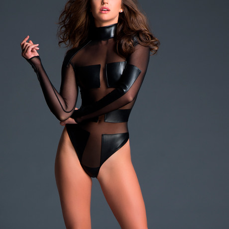 Alixx Sleek + Spectacular Bodysuit // Black (S)
