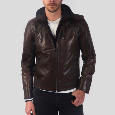 Aiden Leather Jacket // Chestnut (S)