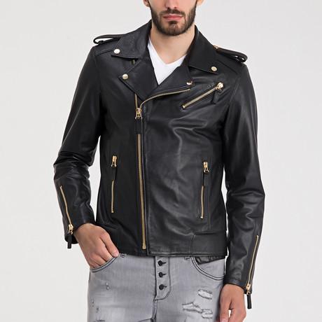 Carter Leather Jacket // Black + Gold (S)