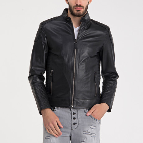 Wyatt Leather Jacket // Black
