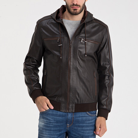 Jefferson Leather Jacket // Brown (S)