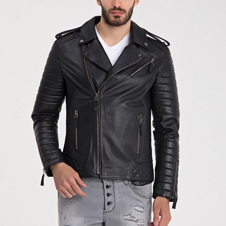 Beckett Leather Jacket // Black (S)
