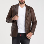 Elijah Leather Jacket // Chestnut (2XL)