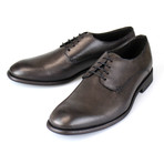 Canali // Leather Derby Shoe // Brown (US: 8.5)