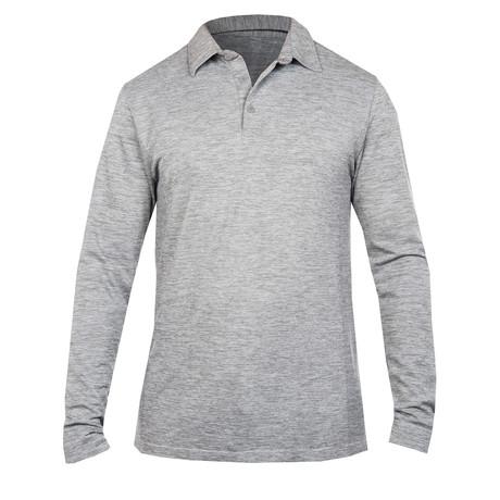 Ocean Polo Knit // Silver (S)