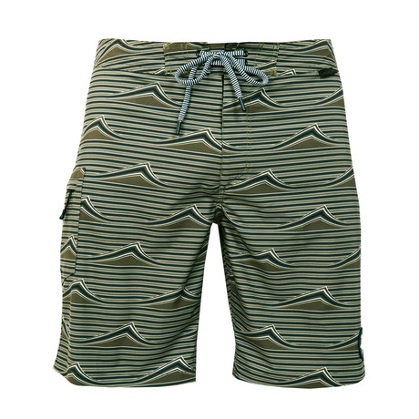 Performo Wave Boardshort // Olive (28)