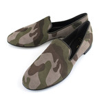 Giuseppe Zanotti // Kevin Mimo Suede Slippers // Camouflage (US: 6)