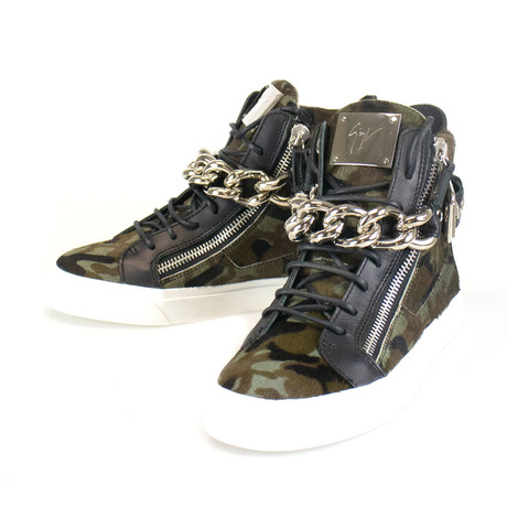 Giuseppe Zanotti // London Camuf Hi-Top Sneakers // Black (US: 6)