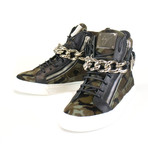 Giuseppe Zanotti // London Camuf Hi-Top Sneakers // Black (US: 7)