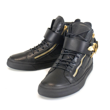 Giuseppe Zanotti // London Lindos Vague Hi-Top Sneakers // Black (US: 6)