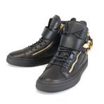 Giuseppe Zanotti // London Lindos Vague Hi-Top Sneakers // Black (US: 8)