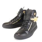 Giuseppe Zanotti // London Lindos-Vague Sneakers // Black (US: 9)
