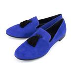 Giuseppe Zanotti // Kevin Camoscio Suede Loafers // Blue (US: 6)