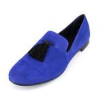Giuseppe Zanotti // Kevin Camoscio Suede Loafers // Blue (US: 8)