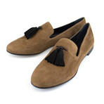 Giuseppe Zanotti // Kevin Camoscio Suede Loafers // Brown (US: 6)