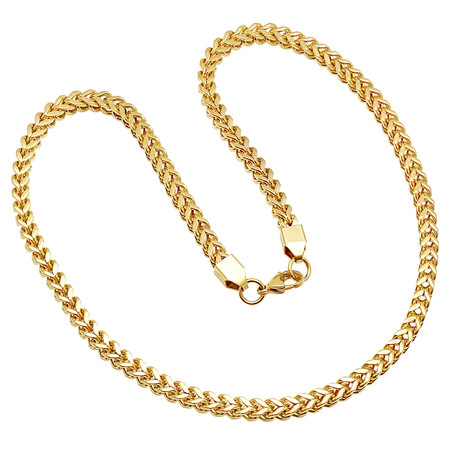 18K Gold Plated Box Chain Necklace
