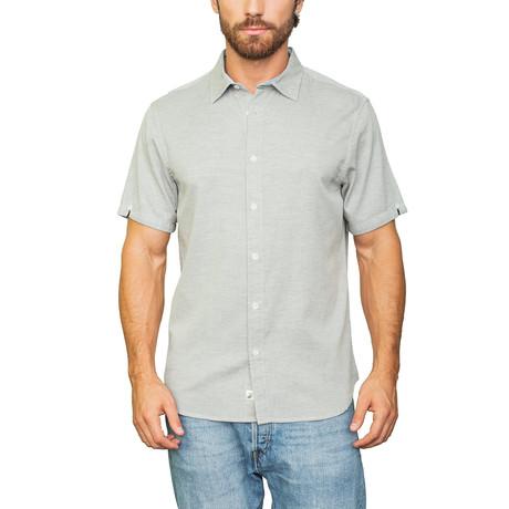 Belmont Heathered Cotton Shirt // Gray (S)