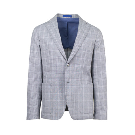 Pal Zileri // Cotton Blend Unstructured 2 Button Sport Coat // Gray (US: 48R)