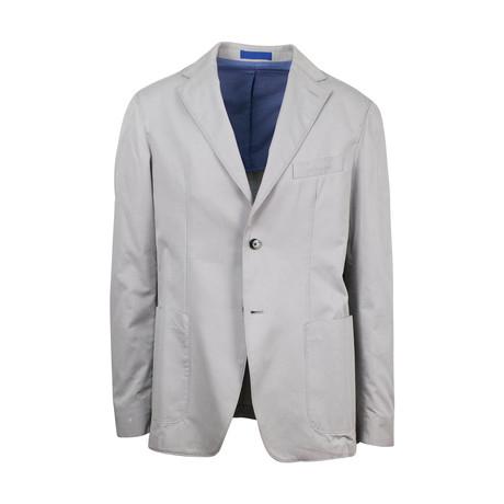 Cotton Unstructured 2 Button Sport Coat // Gray // 46PZ-175