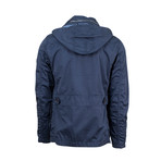 Pal Zileri // Cotton + Removable Hood Trench Coat // Blue (Euro: 48)