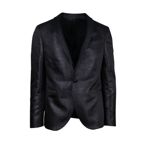Pal Zileri // Polyester 1 Button Tuxedo Sport Coat // Black (Euro: 48)