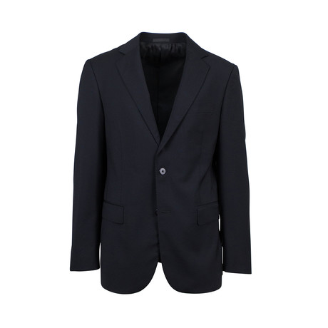 Pal Zileri // Wool 2 Button Sport Coat // Black (Euro: 44R)
