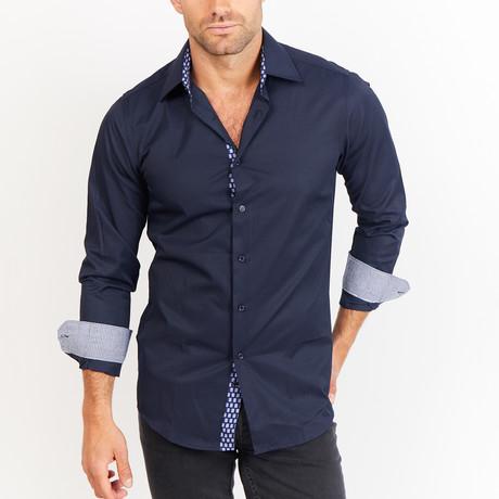 Brassard Button-Up // Navy (S)