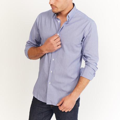 Darst Button-Up // Blue + White (S)