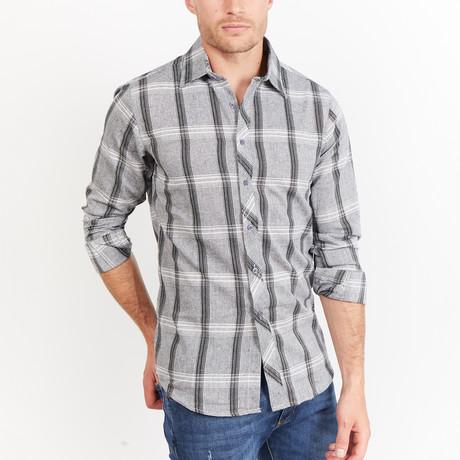 Fredrick Button-Up // Black + Gray Checkered (S)
