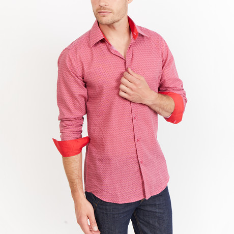 Jeffrey Button-Up // Slate Red (S)