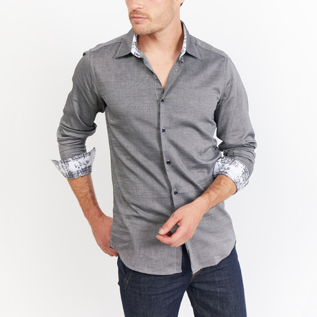 Kruger Button-Up // Knit Gray (S)