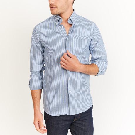 Mitchell Button-Up // Blue + White (S)