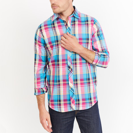 Roscoe Button-Up // Blue + Yellow + White Check (S)