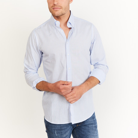 Maxson Button-Up // Gray + White (2XL)
