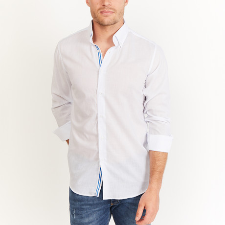 Hoffman Button-Up // White Print (S)