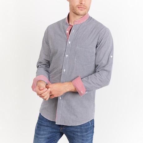 Albes Button-Up // Gray + White (S)