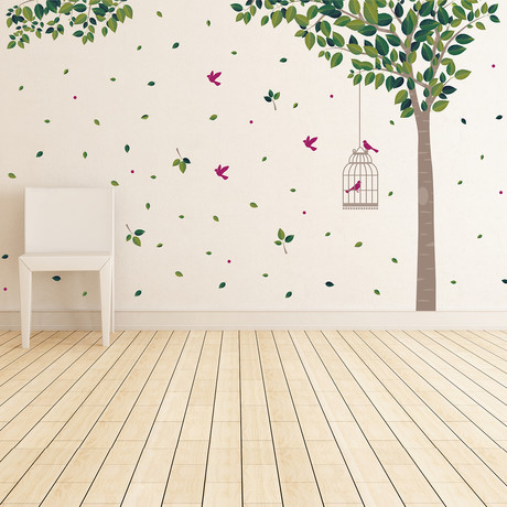 Green Tree // Wall Sticker